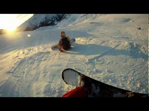 Snowboard Freeride Champoluc Go-Pro HD Hero 960