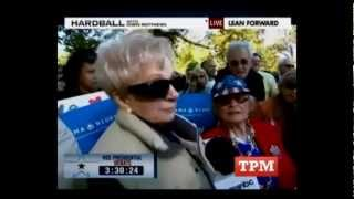 Woman at VP Debate Calls Obama a Communist, Can't Say Why