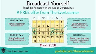 Broadcast Yourself - Teaching Remotely In The Age Of Coronavirus Part 1/4