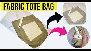 DIY Fabric Tote bag | Reversib…
