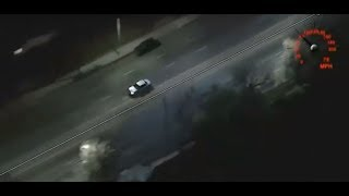 Los Angeles police pursue stolen vehicle in high speed chase
