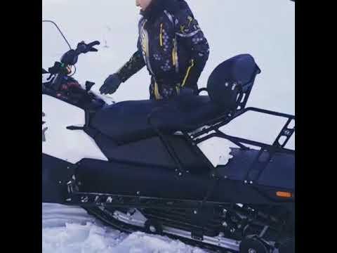 Ручной запуск снегохода Stels SA800 Витязь. Томск, Сибирь. Ниже 30 градусов.Четырехтактный двигатель