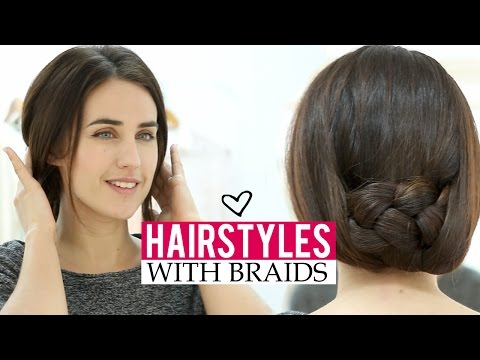 Easy hairstyles with braids in 5 minutes