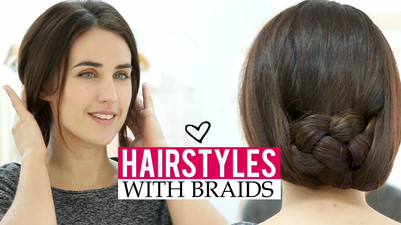 Hairstyles For Short Hair Under 5 Minutes: Easy Hairstyles With Braids In 5 Minutes