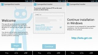 CYANOGENMOD INSTALLER - WALKTHROUGH