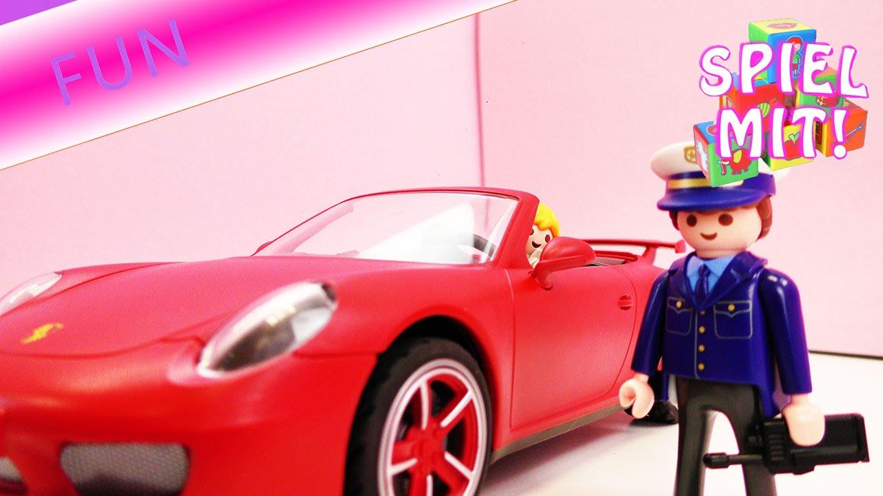 playmobil film deutsch porsche f hrt zu schnell und wird erwischt polizei einsatz playmobil. Black Bedroom Furniture Sets. Home Design Ideas
