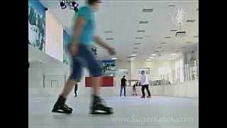 Чернигов: каток с синтетическим льдом Супер-Глайд с хоккейной разметкой