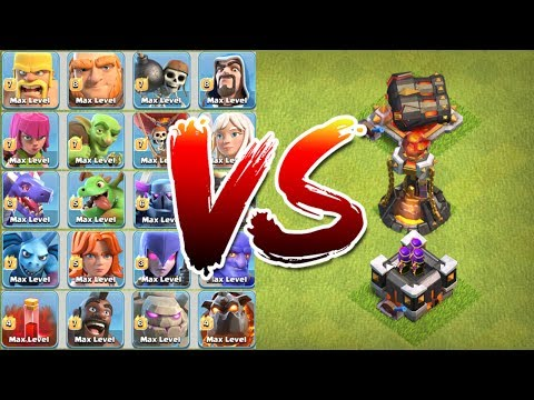Clash Of Clans - NEW DEFENSES vs ALL TROOPS!! - NEW MAX LEVEL TROOPS INCLUDED!!