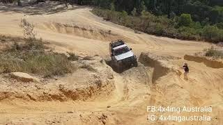 Front locker pajero making it lol easy at glasshouse mountain