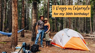 3 Days in Colorado:  Camping in Rocky Mountain National Park & A Night Out in Denver