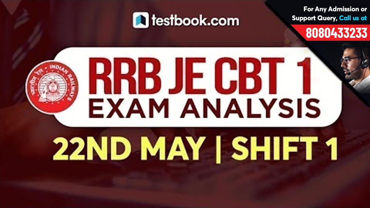 RRB JE Exam Analysis 2019 | Railway JE 22nd May Shift 1 Exam Review | RRB  JE 2019 Question Paper