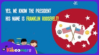 Presidents Day for Kids | President Song for Kids | Lyric Video | The Kiboomers