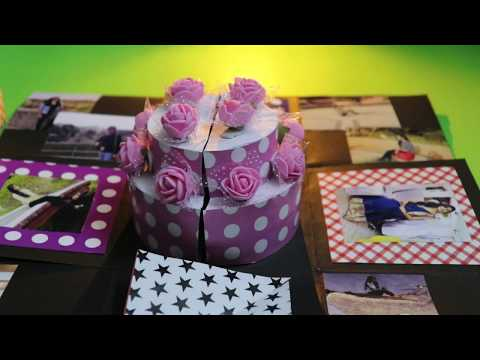 Explosion box : Paper cake inside & EASTER | DIY cute birthday gift