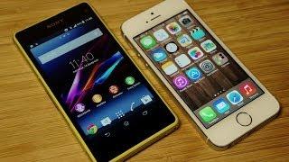 iPhone 5S vs Xperia Z1 Compact: обзор-сравнение [Mobiltelefon.ru]