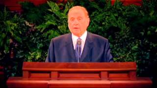 Thomas S. Monson teaches about individual agency 360p eng