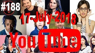Today's Most Viewed Music Videos on Youtube, 17 July 2018, #188
