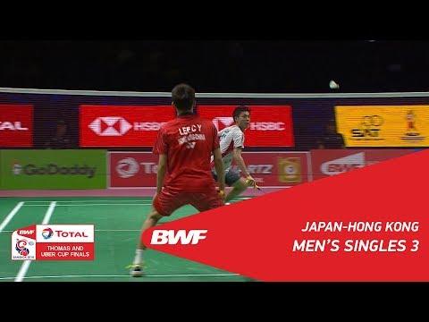 Thomas Cup | MS3 | Kazumasa SAKAI (JPN) vs LEE Cheuk Yiu (HKG) | BWF 2018