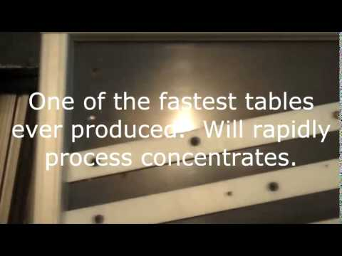 Shaker Table Gold Concentrtor * Deister Wilfry * New Hyper Speed Model