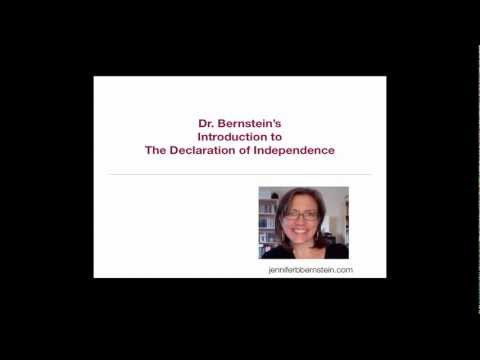 Dr. Bernstein's Intro to the Declaration of Independence