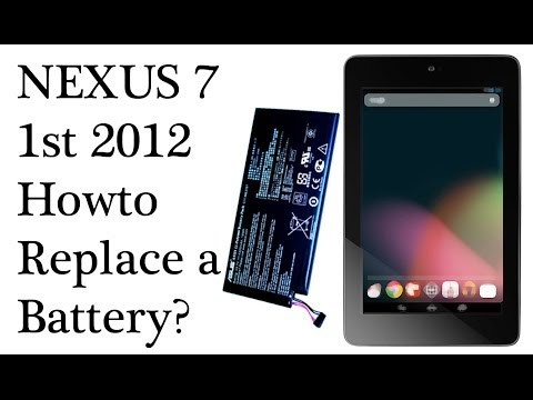 Howto Replace Nexus 7 1st 2012 Battery