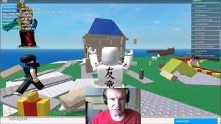 Rixspark7 plays ROBLOX Natural Disaster Survival 09 Earthquake and Tsunami hit Party Palace