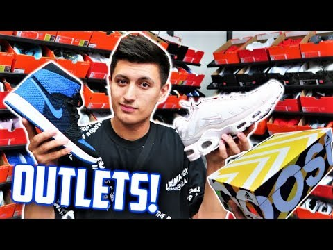 PREMIUM OUTLET SNEAKER SHOPPING! NIKE, ADIDAS, GUCCI OUTLETS!