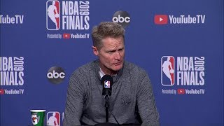 Steve Kerr Full Interview - Game 2 Preview | 2019 NBA Finals Media Availability