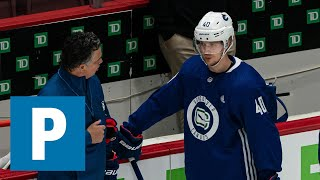 Vancouver Canucks Elias Pettersson and Jake Virtanen speak to media | The Province