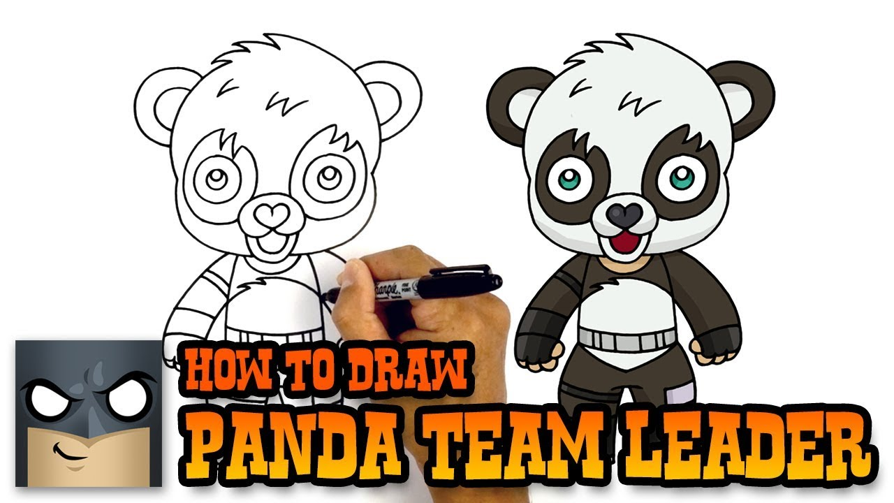 How To Draw Fortnite Panda Team Leader Youtube