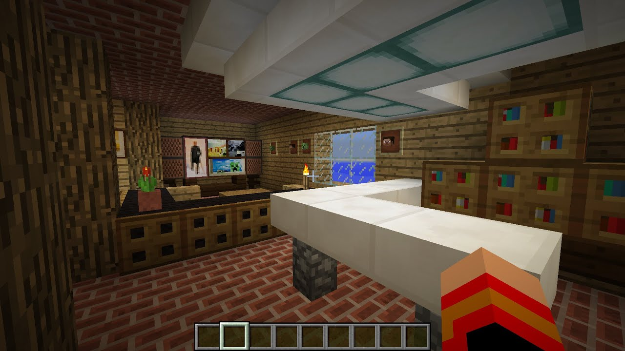 Tuto minecraft d co maison salon s a m mini bar youtube for Mini bar de salon