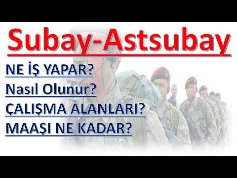 Subay-Astsubay Ne İş Yapar? Nasıl Olunur? Maaşı?