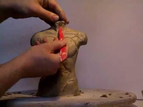 Mann Torso Modellage - Human Body Sculpt
