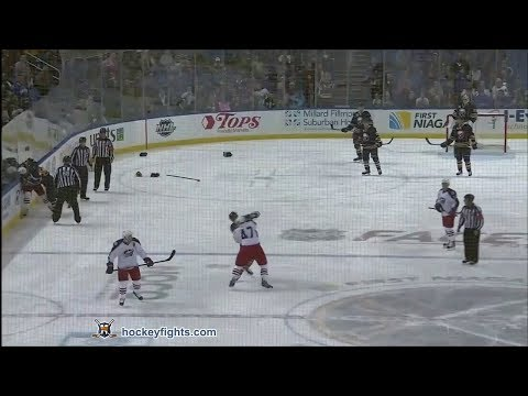 Dalton Prout vs Cody McCormick & Jared Boll vs Patrick Kaleta Oct 10, 2013