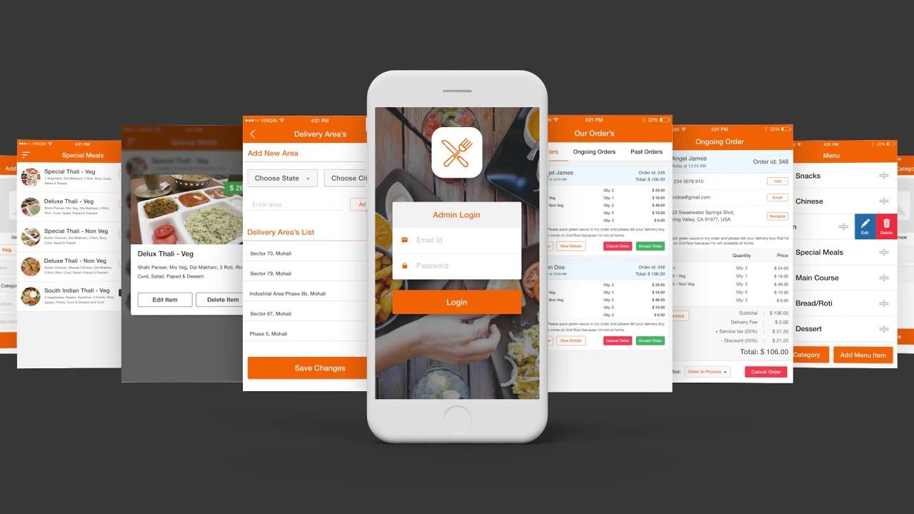 Food ordering app ui kit admin user innovation