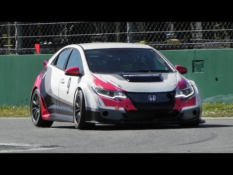 JAS Motorsport' 2015 Honda Civic TCR Sound - Accelerations, Fly Bys & Downshifts