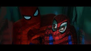 Infiltrating Alchemax/unstick and camouflage (Spider-Man Into the Spider-Verse)