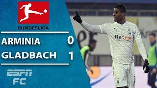 Borussia monchengladbach defeat arminia bielefeld 1-0 thanks to breel embolo's second half strike. the win ends gladbach's four game winless run in bunde...