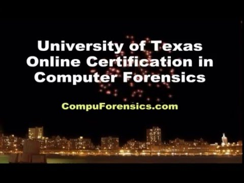 Computer Forensics University Certification