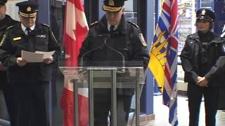 Archive - Launch of the Transit Police, December 2005