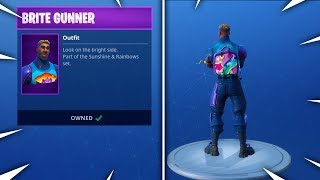 New BRITE BAG GAMEPLAY! 'Brite Gunner' ITEM SHOP UPDATE! (Fortnite NEW SKINS)