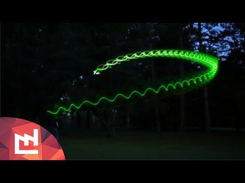 Phosphorescent glowing boomerang