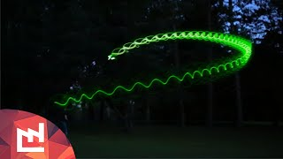 Phosphorescent glowing boomerang