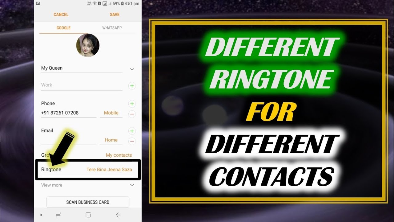 How to Set Different Ringtone for Different Contacts in SAMSUNG