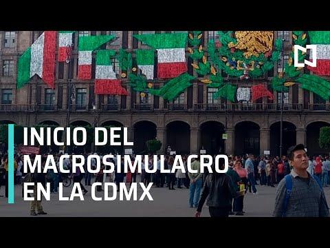 Inicio del macrosimulacro 2019; se activa alerta sísmica en CDMX - Matutino Expres