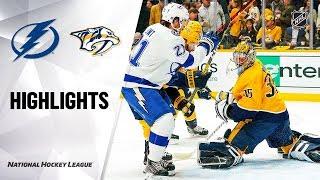 NHL Highlights | Lightning @ Predators 12/3/19