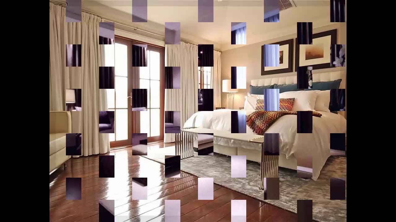 moderne gardinen f r schlafzimmer youtube. Black Bedroom Furniture Sets. Home Design Ideas