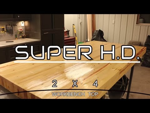 How to make a workbench top out of 2x4