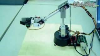 Robot Arm Kit: Lynxmotion Servo Erector Set Mini Robot Arm Demo by RobotShop.com