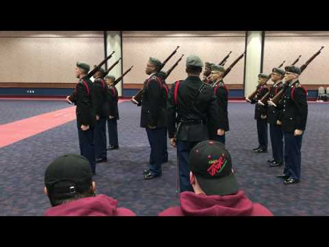 Union HS Army JROTC Armed Regulation Performance At Army Drill Nationals 2017