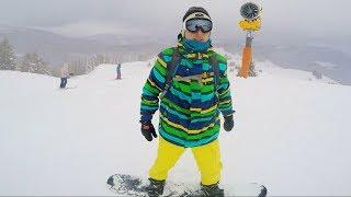 Endlich Snowboard fahren - Wir besuchen die Steinplatte